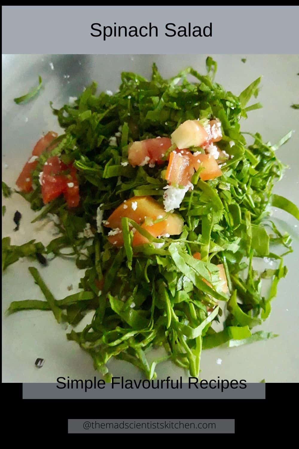 A serving of palak salad