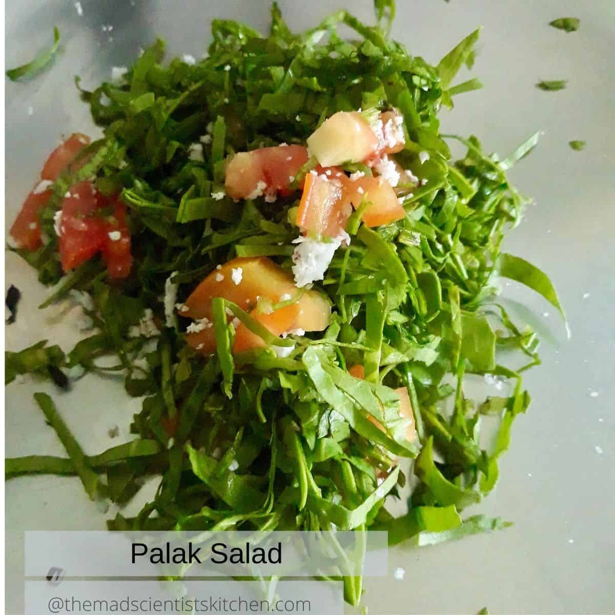 Simple Spinach Salad served