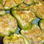 Capsicum Stuffed with Tofu and White Sauce