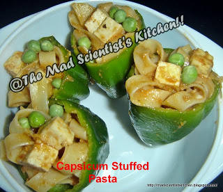 The Let's Get stuffed Event ~~Pasta Stuffed in Capsicum