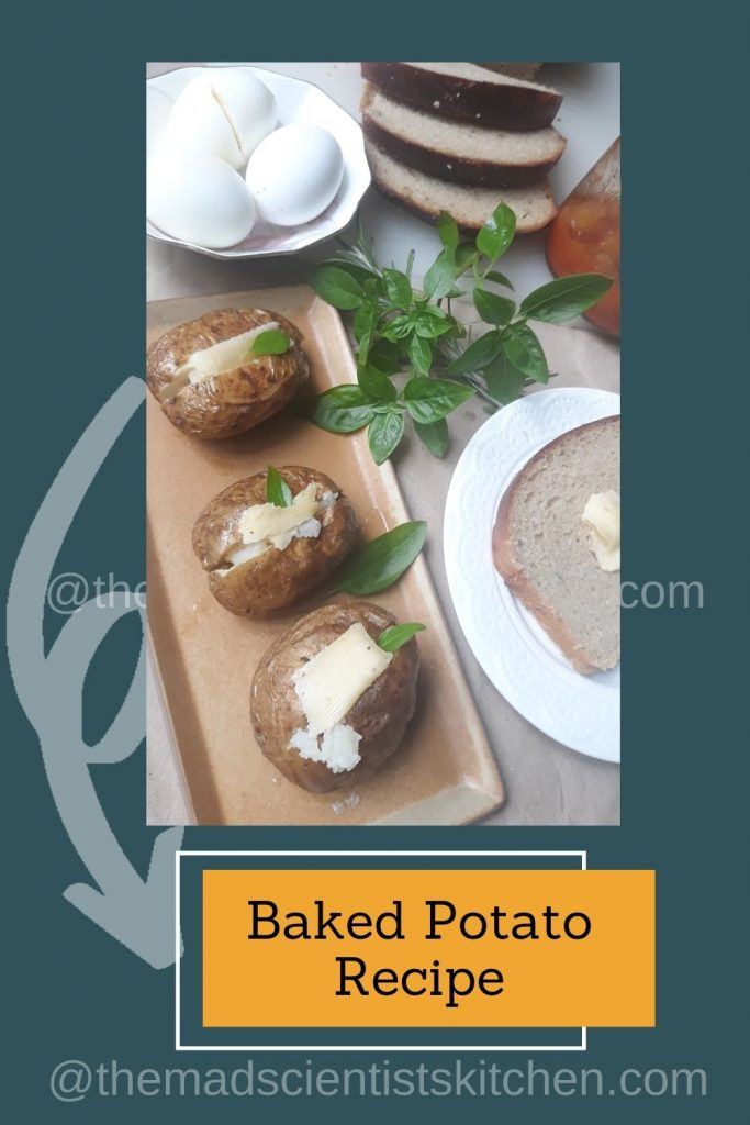 My brunch is all set with baked potatoes as a side dish