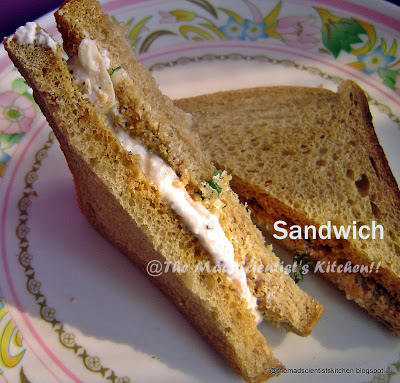 Sandwich with Hung Curds