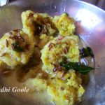 Serve Kadhi gole with a tempering of Jeera nd Hing