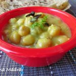 Chickpeas in yoghurt