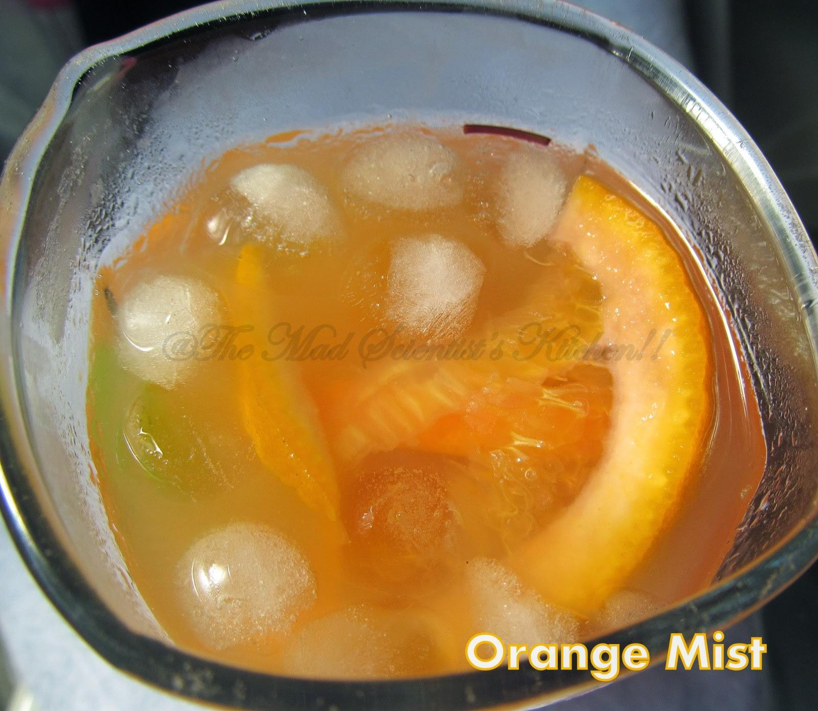 Orange Mist, a Mocktail