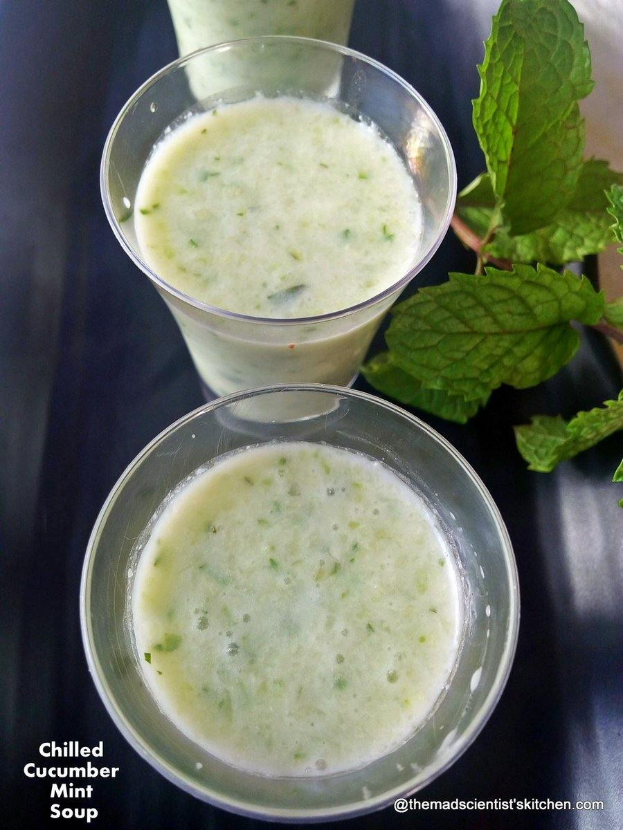 Beat the Heat with Chilled Cucumber Mint Soup