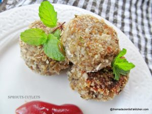 cutlets-from-sprouts, Chop, Kid Friendly, Breakfast, Snack, Healthy Food, Old Age, Appetizers, Vegetarian Food