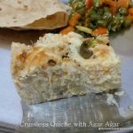 Quiche, egg-less and crust-less