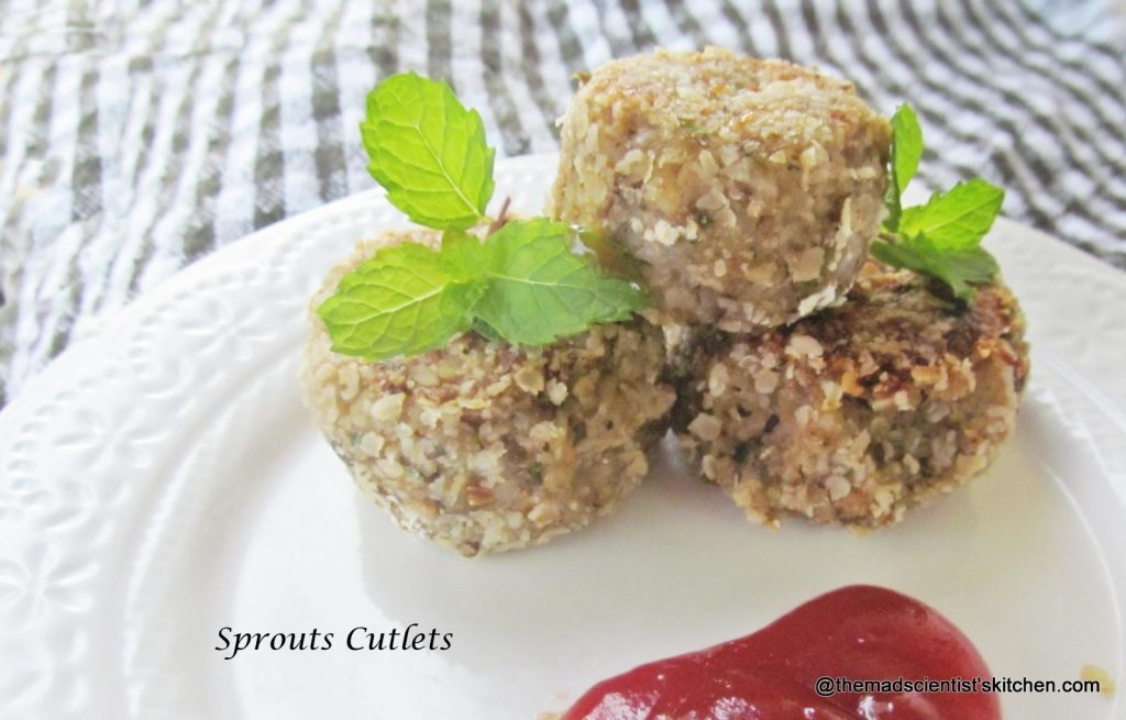 cutlets-from-sprouts, Chop, Kid Friendly, Breakfast, Snack,Appetizers
