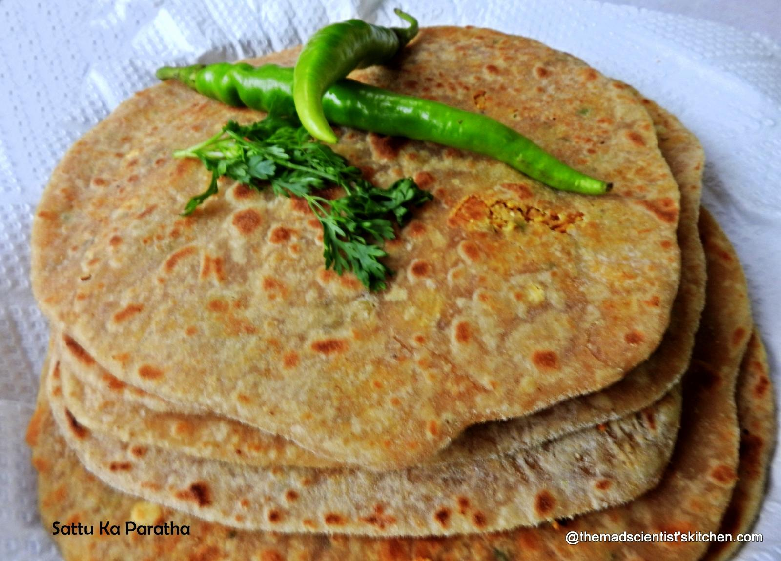 Nutritious Sattu ka Paratha, an Indian Bread Stuffed With Roasted Gram