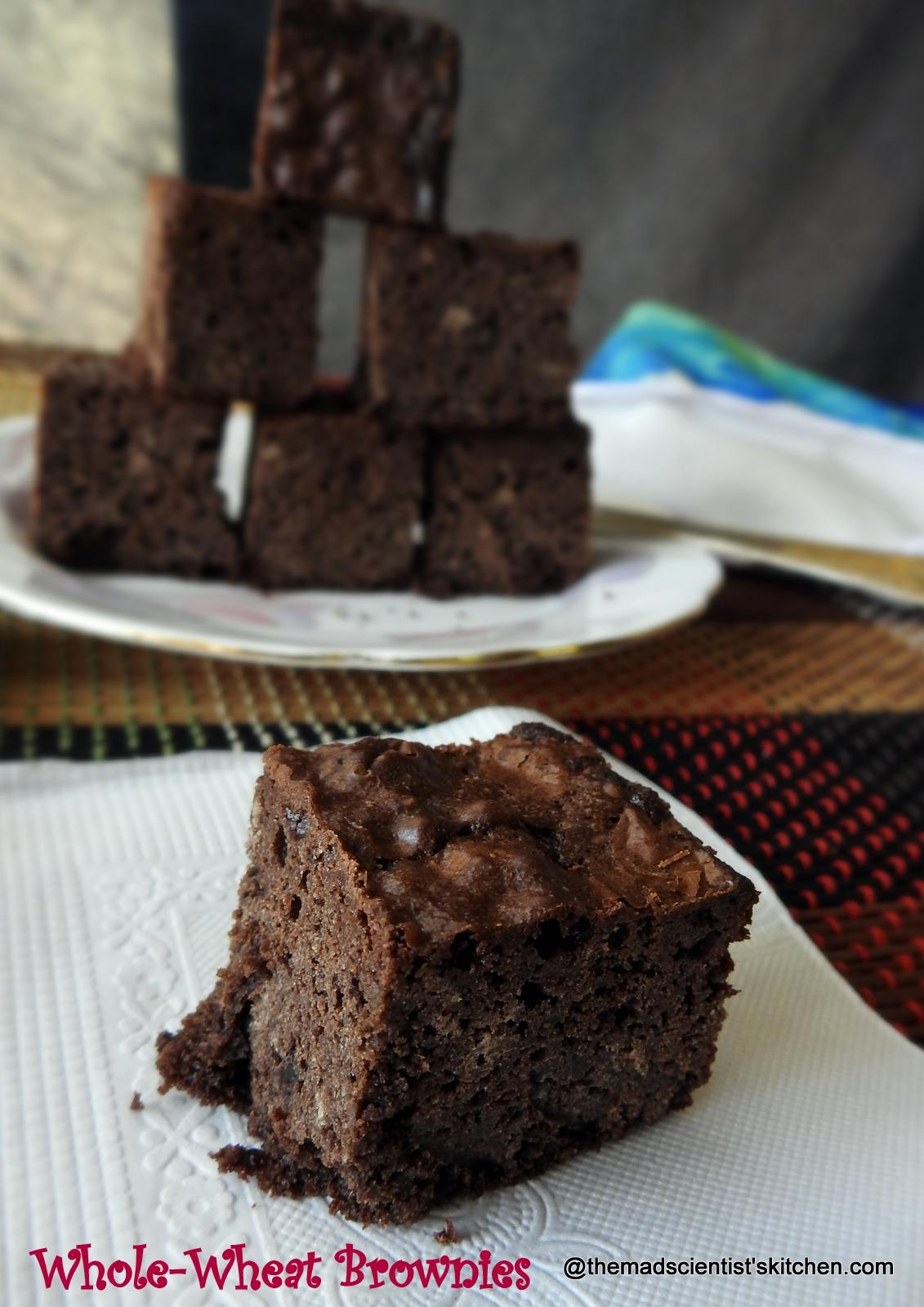 Whole-Wheat Brownies- Spreading X'Mas Joy