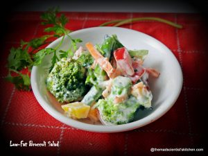 Low-fat Broccoli Salad, no eggs, no mayonaise