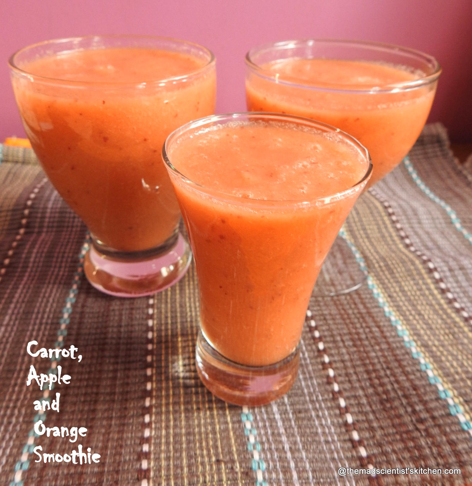 Carrot, Apple and Orange Smoothie