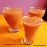 Carrot, Apple and Orange Smoothie, Dairy free
