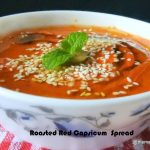 Roasted Red Capsicum Spread with onion