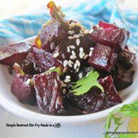 Simple Beetroot Stir-Fry Made in a Jiffy