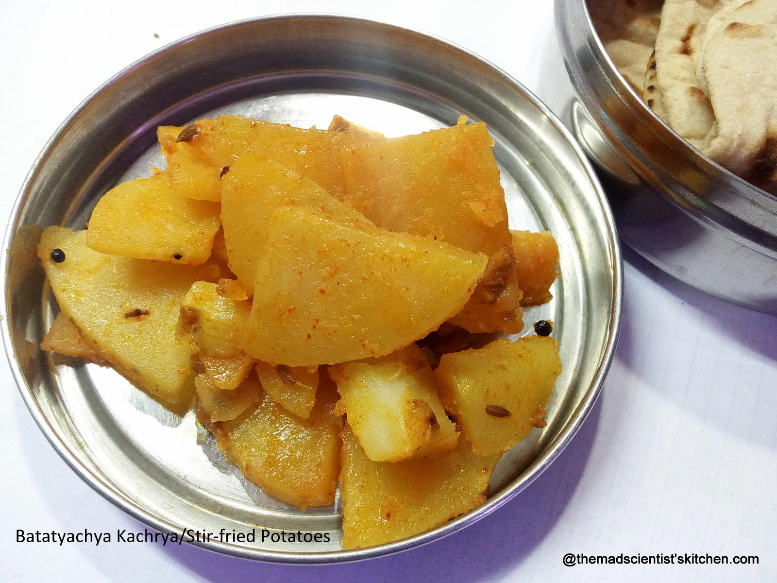 Batatyachya Kachrya/Stir-fried Potatoes