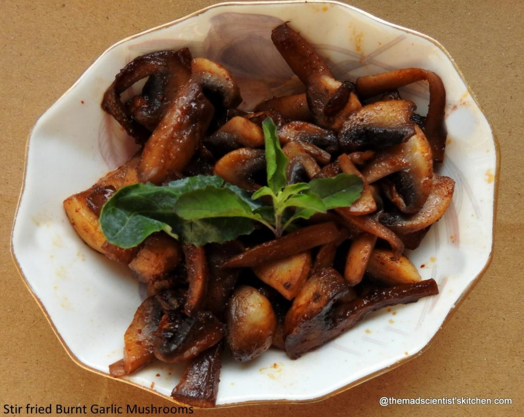 Burnt Garlic Mushrooms
