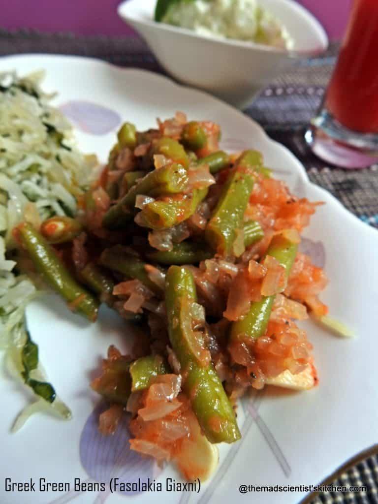 Greek Green Beans (Fasolakia Giaxni)