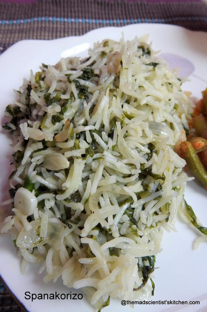 Greek Spinach Rice (Spanakorizo)