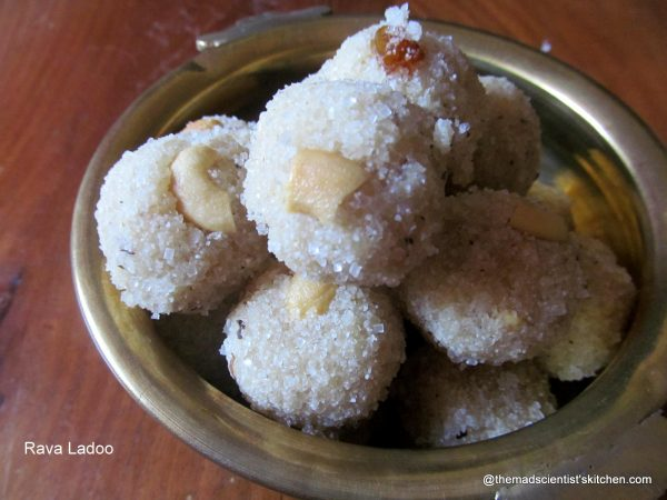 Sooji Laddoos, Semolina Ladoos, Indian Sweet,