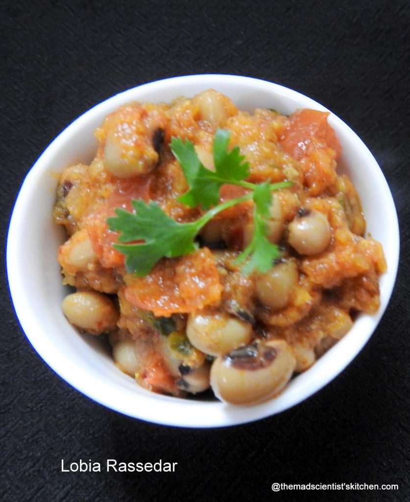 cow pea gravy, black eyed peas gravy, Indian Cuisine