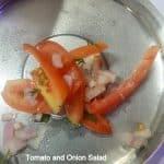 Chilean Salad Recipe, Simple Kanda tomato