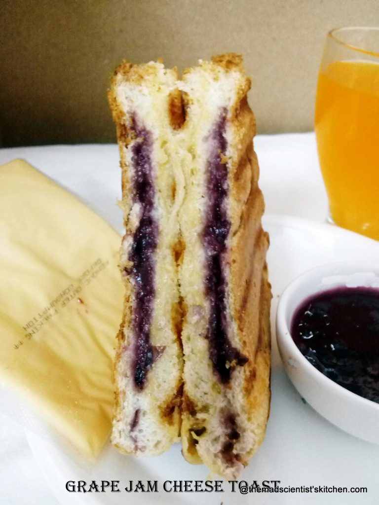 Grape Jam Cheese Toast, Breakfast