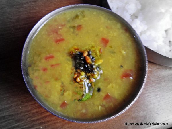 Dal made with garlic flavour