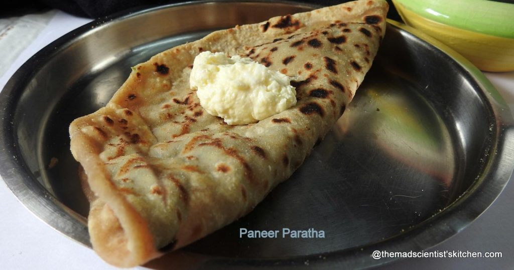 Protein rich Paratha with cottage cheese