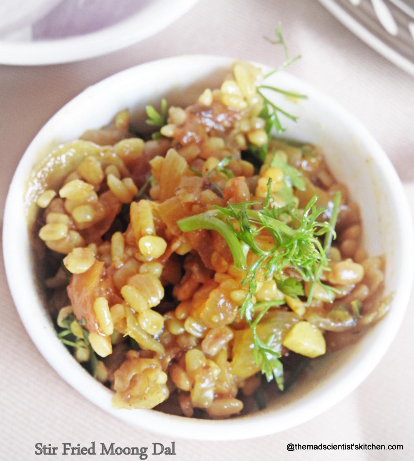 Stir fried Moong Dal,Sukhi Mung Dal,Stir fried Moong Dal, Stir fried Green Gram Lentil