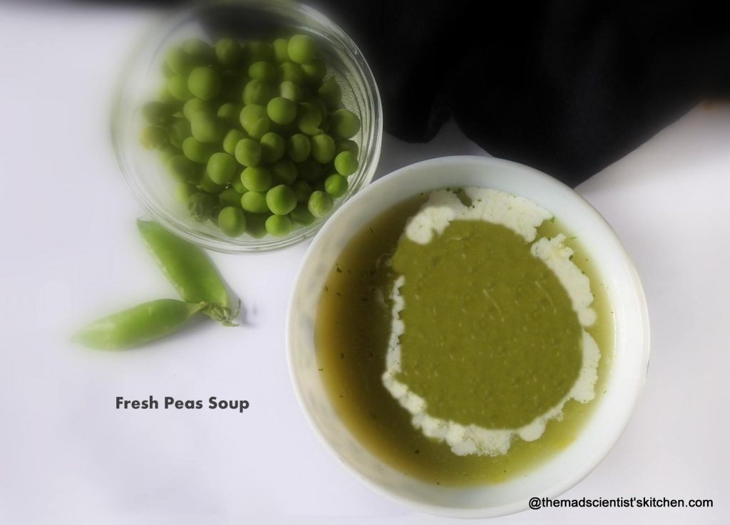 Protein rich Fresh Peas Soup