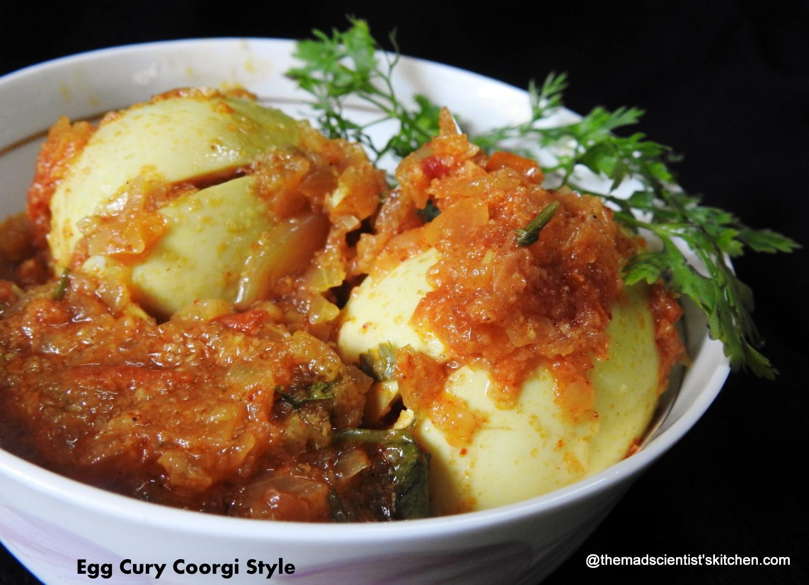 Egg Curry in Coorgi Style