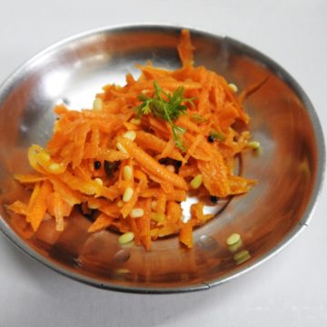 A salad with Moong Dal and Carrot Salad