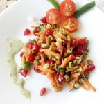 Pomegranate, Carrot and Sprouts Salad