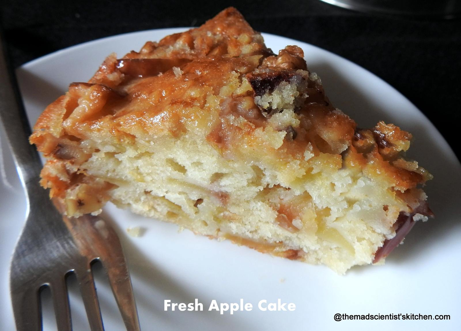 Apple Cake with Fresh Apples and Walnuts