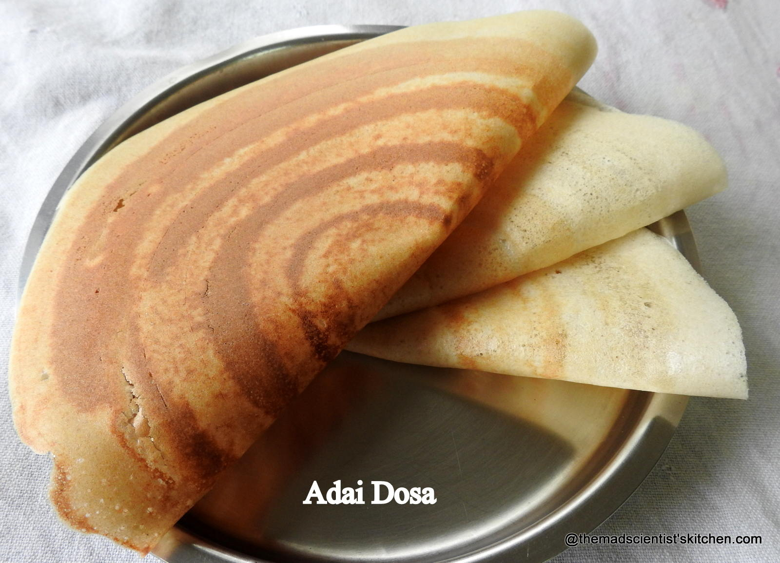 Adai Recipe/Adai Dosa Recipe (Indian Lentil Crepes)