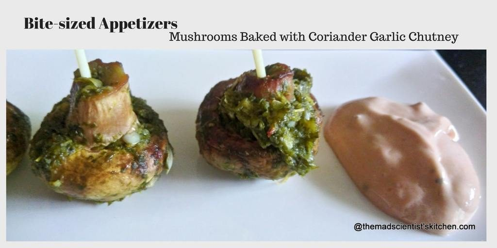 Bite-sized Appetizers Baked Mushrooms