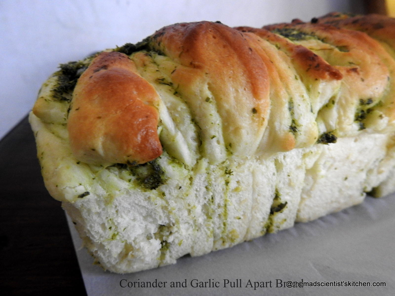 Coriander and Garlic Pull Apart Bread for #BreadBakers
