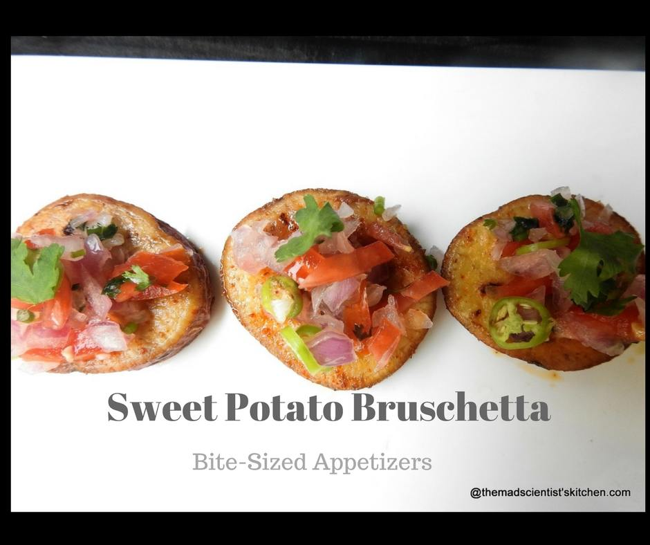 Sweet Potato Bruschetta, Bite-Sized Appetizers