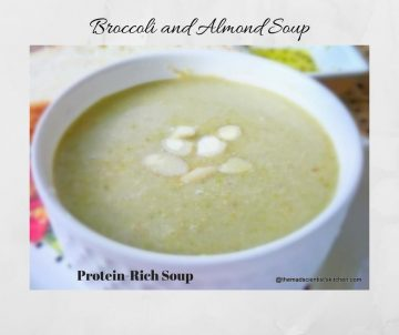 Healthy Broccoli and Almond Soup