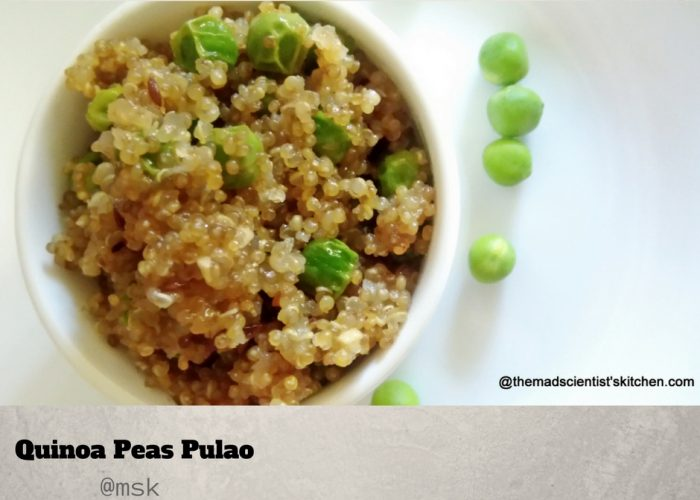 Quinoa Matar Pulao,Quinoa Peas Pulao