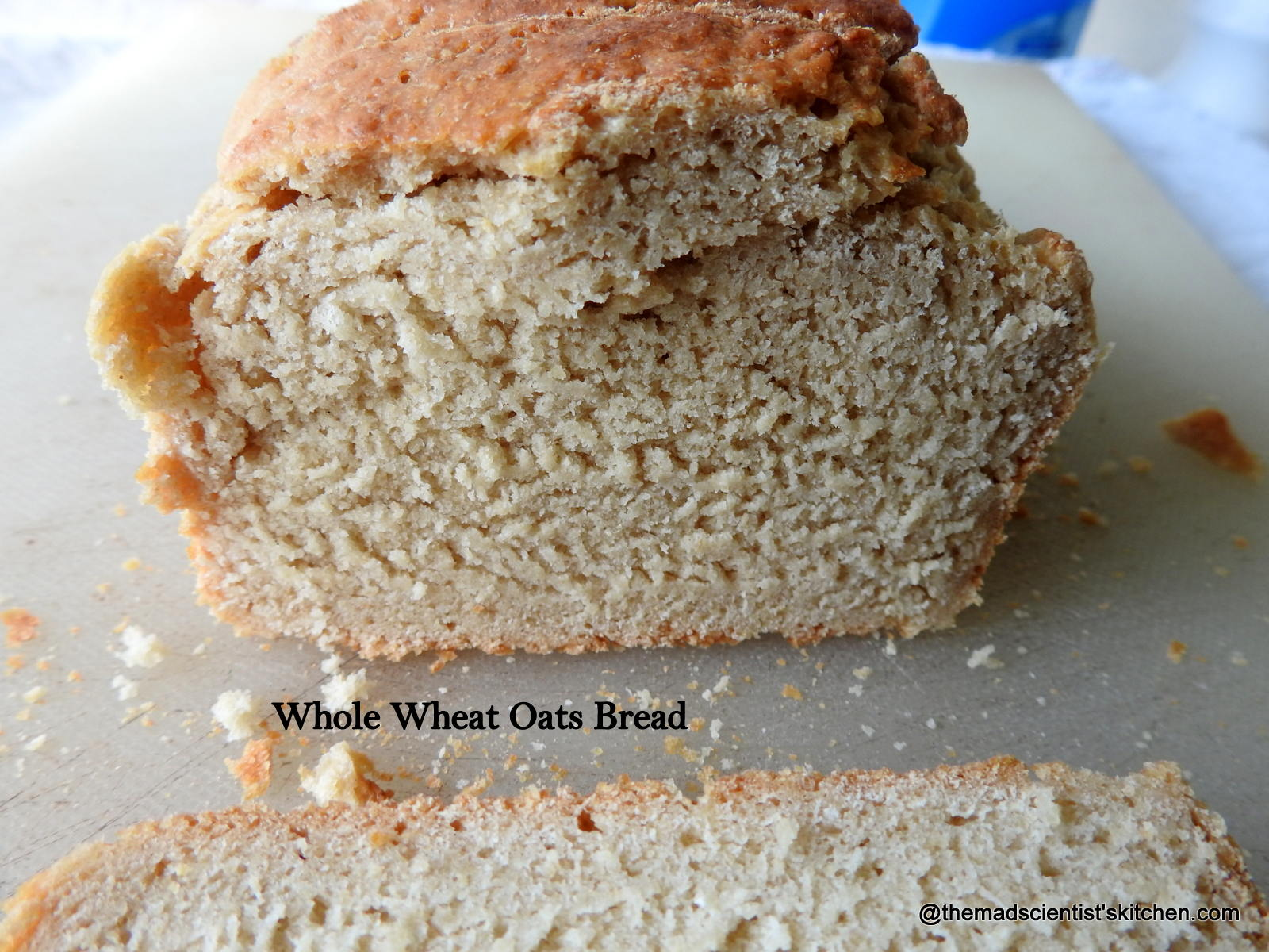 Whole Wheat Oats Bread #BreadBakers