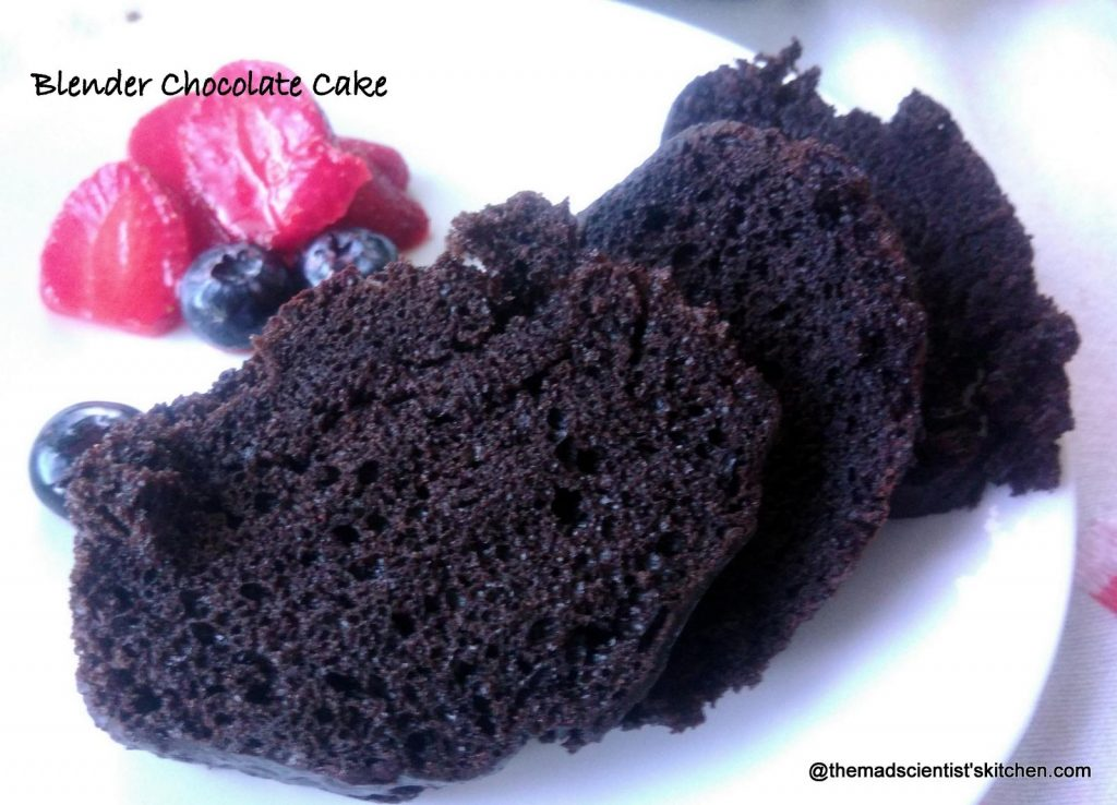 Eggless, moist and easy Blender Chocolate Cake