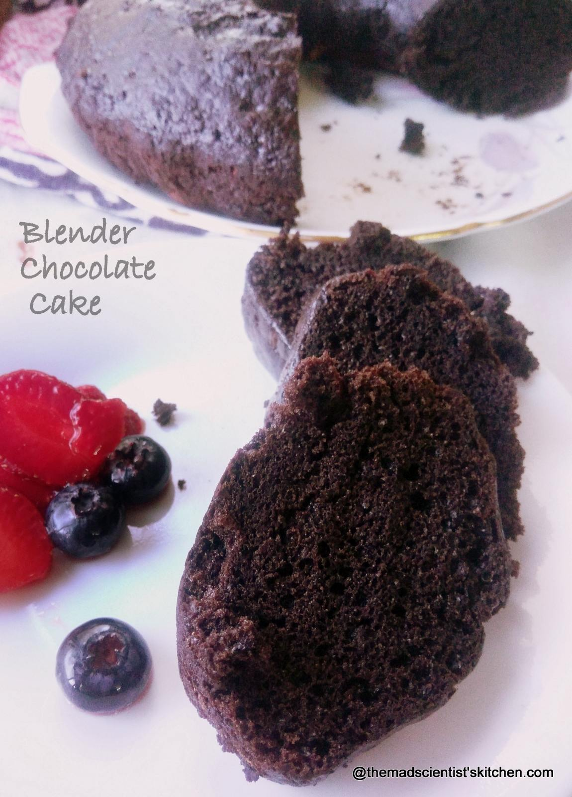 Blender Chocolate Cake~ Egg less and Soft
