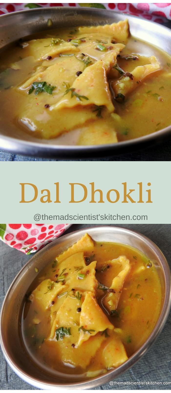 Dal Dhokli| Stew of Dal and Wheat Flour Noodles