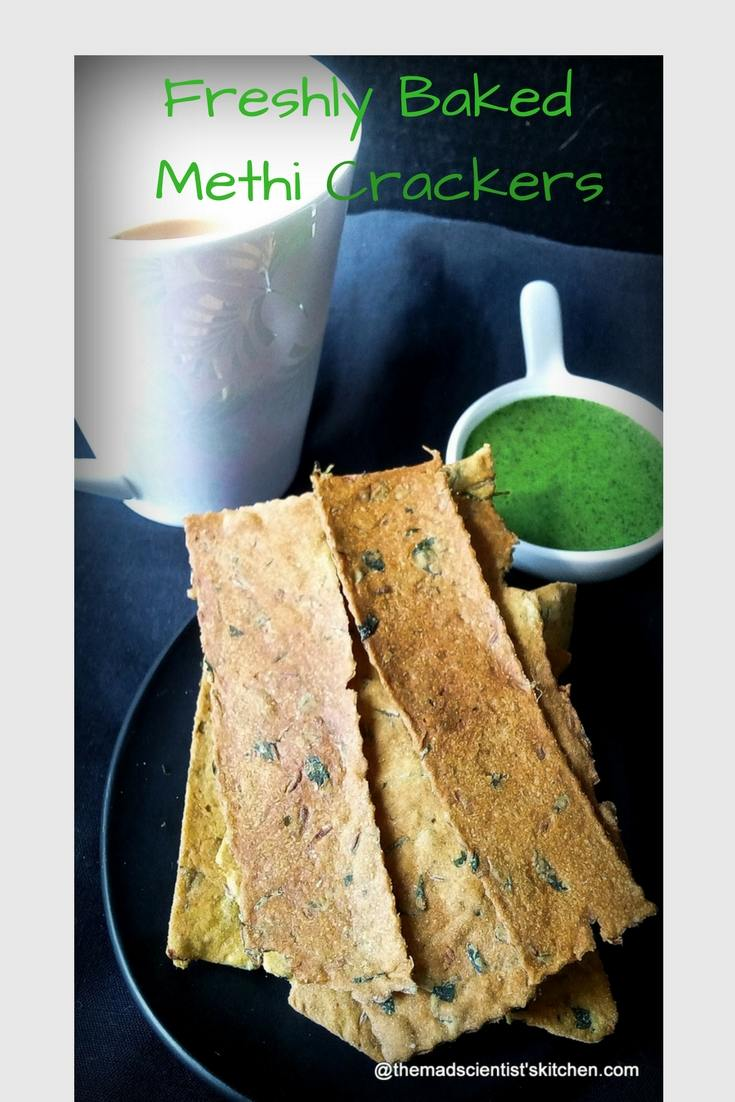 Freshly Baked Methi Crackers,Baked Methi Mathri,#Bread-Bakers