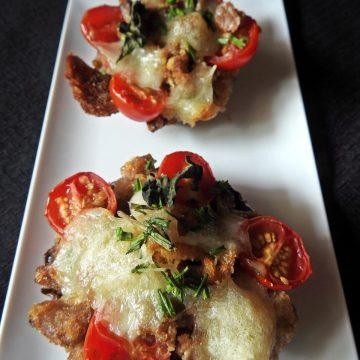 Stuffed Portabella Mushrooms,Caprese style Mushrooms