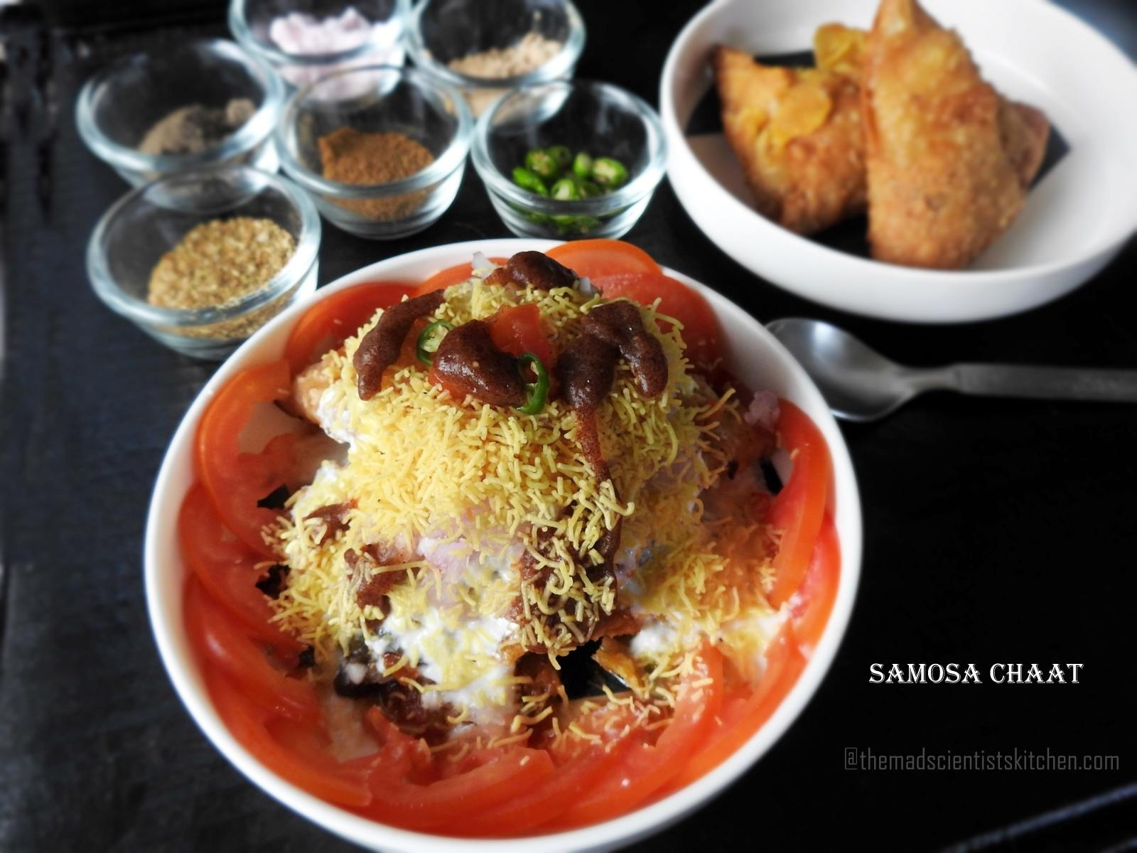 Samosa Chaat, Street food