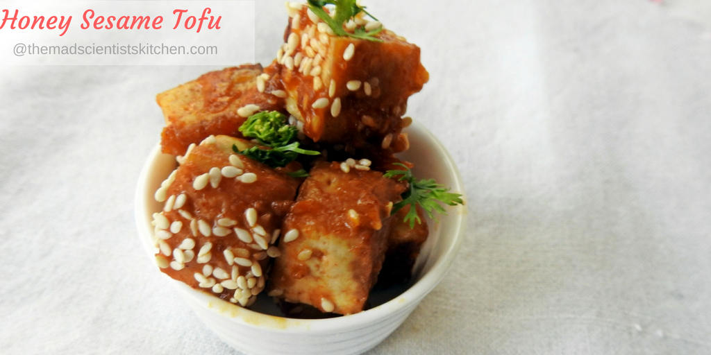 Honey Sesame Tofu, Bean curd Honey Sesame, vegetarian sides